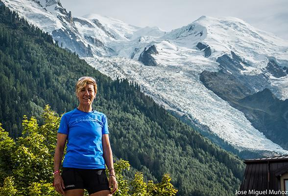 Yolanda Valiente, champion of the master category and record of Ultra Trail du Mont Blanc®