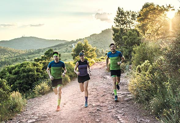 The new Samba collection from Lurbel offers textile technology and design for trail running