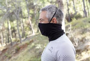 The Lurbel Faz Warm approved protective mask with  merino wool tubular